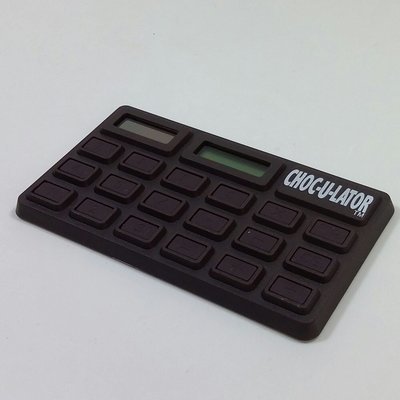 Silly the Gifts 太陽能朱古力計數機Solar Calculator Chocolate PVC