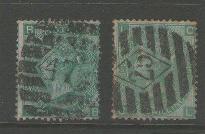 【雲品】英國Great Britain 1867 Queen Victoria SG 115 PL4 & PL5  FU 庫號#65870