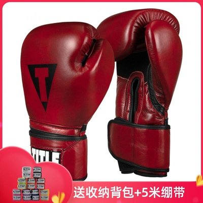 TITLE BOXING BLOOD RED LEATHER真皮復古訓練手套沙袋拳擊泰拳@03155