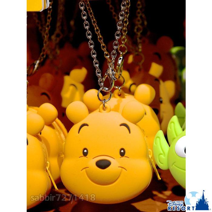 JP購✿樂園限定頭型矽膠零錢包 維尼 日本東京迪士尼樂園 拉鍊 零錢包 吊飾 掛飾 鑰匙圈 401350097885