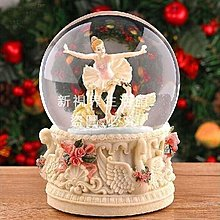 【新視界生活館】發光芭蕾舞水晶球音樂盒八音盒創意生日教師節禮物送女生女友老師浪漫芭蕾舞新款可送彩紙包裝3511{XSJ307121371}