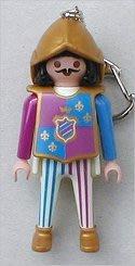 全新 2003 收藏品 德國 正版 playmobil 鑰匙圈 公仔 摩比 玩具 模型 職業 人偶 塑膠袋密封 城堡守衛