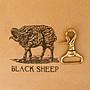黑羊選物 黃銅鑰匙圈 鑰匙扣設計 不掉鑰匙 ...