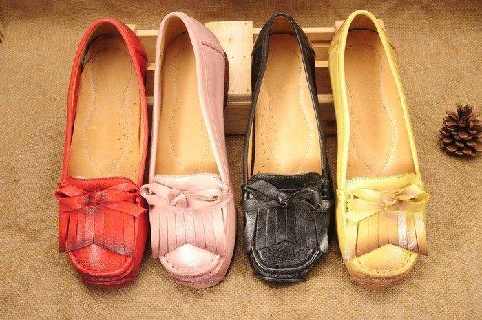 日和生活館 春夏新款真皮原創個性女單鞋復古真皮女鞋手工縫線裏外全真皮鞋子 ZC135188