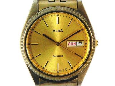 時尚錶 [ALBA 078554]  ALBA 雅柏經典蠔式男仕金錶/ 石英/ 時尚錶 高雄市