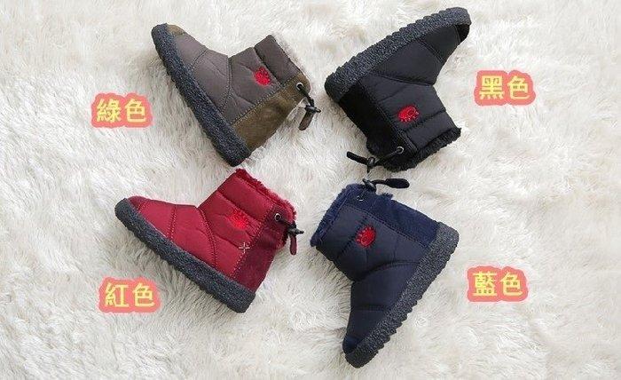 『※妳好,可愛※』韓國童鞋 皇冠 Ollie雪靴類似款親子防水靴子 短靴 親子鞋 輕巧羽絨後綁帶防水短雪靴(小孩款)