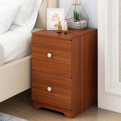 床頭櫃簡約現代仿實木臥室櫃子簡易床邊小...