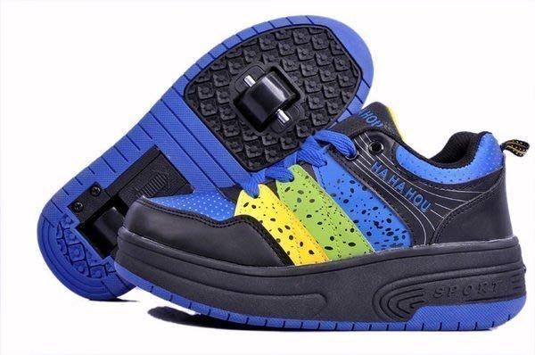 【易發生活館】新品時尚 禮物~超人氣 雙輪 暴走鞋 兒童 自動款 男女款 爆走鞋 隱形按鈕 底價促銷