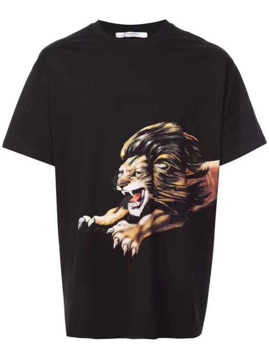 Givenchy 紀梵希18fw新款黑色獅子短袖 我愛麋鹿 東區正品專賣店