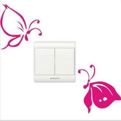 壁貼工場-可超取 小號壁貼 牆貼 貼紙 開關貼- 組合貼 HK337 蝴蝶