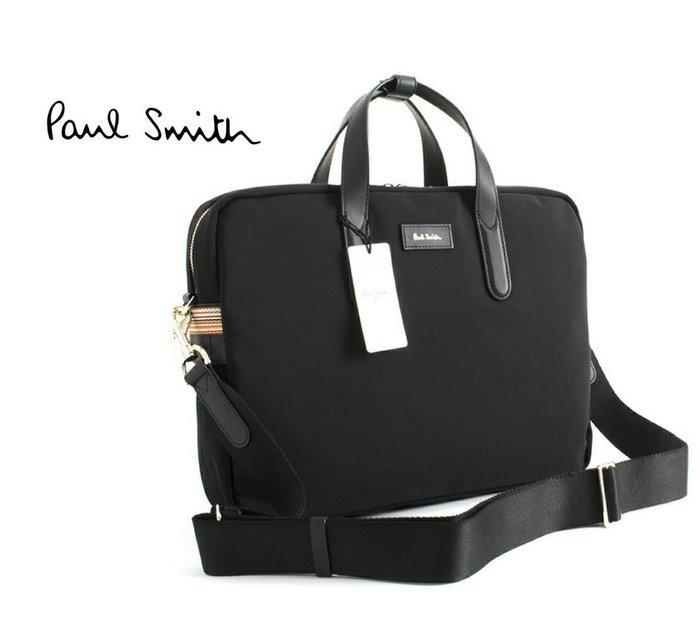 Paul Smith  ( 黑色 )  帆布尼龍×真皮 手提包 後背包 肩背包 多用法貪心包 中性款|100%全新正品|特價!