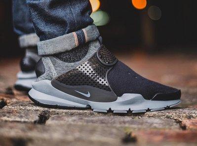 S.G Nike Sock Dart Tech Flee 羊毛 鞋套 襪套 襪子 懶人鞋 黑灰 834669-001男女