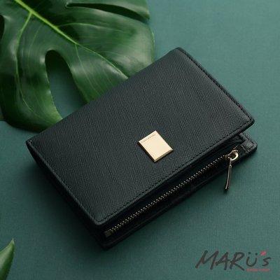 MARU`S BAGS SHOP [LN-658-crl]Cross Lady 十字紋對折釦式中夾 真皮