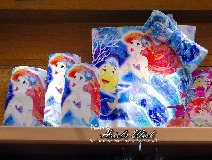 Ariel's Wish預購-日本東京Disney迪士尼愛麗兒小美人魚水藍色夢幻海底泡泡小毯子野餐巾海灘巾毛巾浴巾(大)