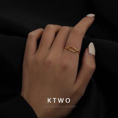 jamel韓專櫃~韓國2020時尚簡約氣質新款線條戒指女網紅ins潮冷淡風小眾指環