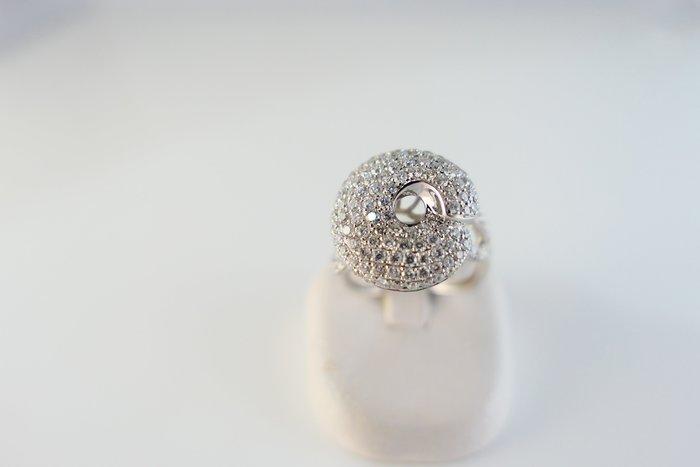 [吉宏精品交流中心]154P 天然鑽石 白K金 造型 戒指
