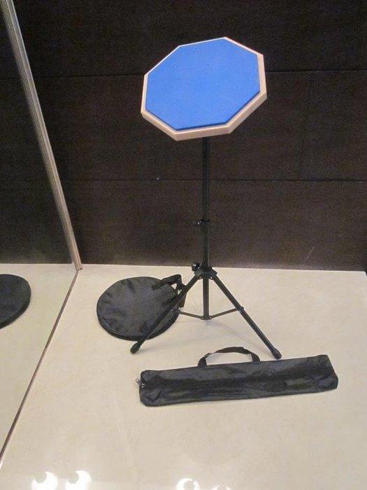 ~全新~10吋爵士鼓打擊練習板+腳架+手提袋 / 打擊墊/ 打擊板/打點板