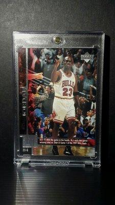 1997 Upper Deck Game Dated Sample #18 Michael Jordan 稀少樣品卡