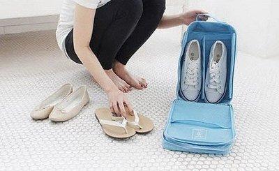 【東京數位】全新 現貨 法蒂希韓國monopoly 旅行鞋類整理包 旅行鞋類整理包收納袋//3鞋位