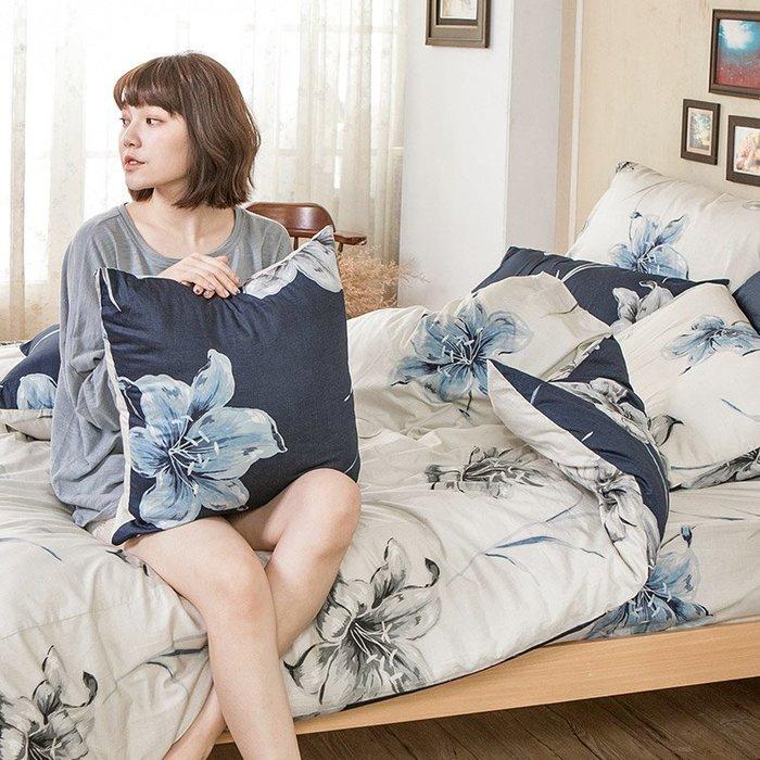 床包被套組 / 單人【漫漫花徑米】含一件枕套  100%精梳棉  戀家小舖台灣製AAS112