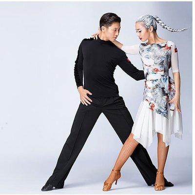 拉丁舞練功裙女成人新款秋冬連衣裙舞蹈服裝比賽服 表演出服