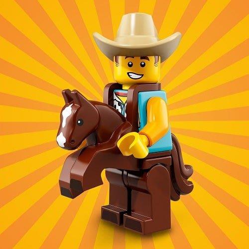 現貨【LEGO 樂高】40周年慶 積木/ Minifigures人偶包系列: 18代 71021 | #15 牛仔裝人