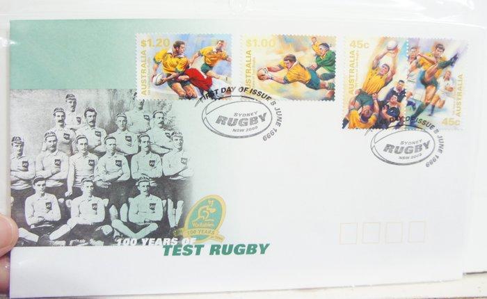 (全新) 1999年-澳洲-100年運動紀念-首日封(郵票)