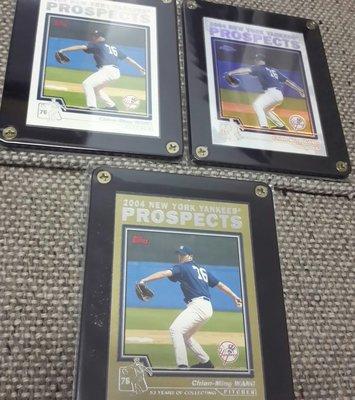 2004 王建民 紐約洋基隊金色是限量棒球卡,3張一起賣!Chien-Ming Wang