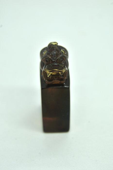 緬甸琥珀 棕紅珀 紫羅蘭珀 金棕珀 金棕珀貔貅印章
