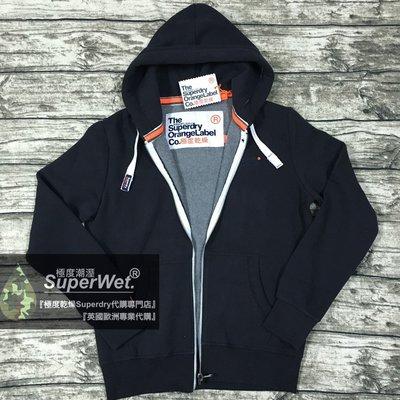 S.WET®現貨 極度乾燥 Superdry Orange Label Hoodie 連帽 棉T 帽T 深藍 現貨A&F