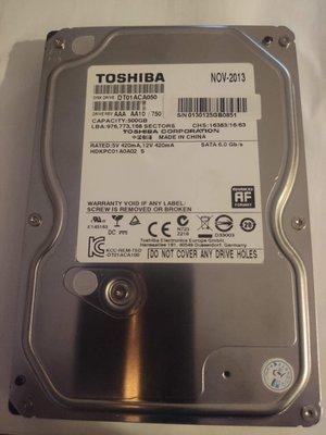 TOSHIBA 3.5 吋500G 硬碟   已過保   二手良品   狀態如圖所示 只有一顆 新北市