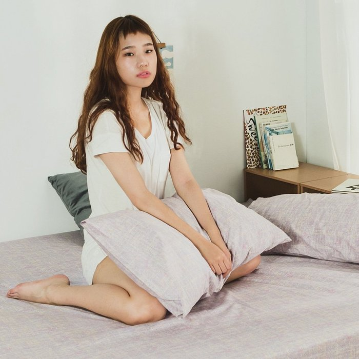 MIT精梳純棉-床包枕套組/雙人5尺【無限】絲薇諾