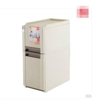 『格倫雅』夾縫收納架可移動窄冰箱間隙縫隙收納整理架廚房浴室置物架子(兩層款)^21513