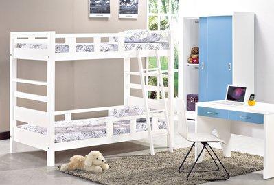 [歐瑞家具]JB-356-1 佐伊白色雙層床(不含床墊)/系統家具/沙發/床墊/茶几/床頭櫃/高低櫃/1元起