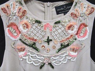 Needle & Thread 重工亮片刺繡無袖洋裝 EU34號