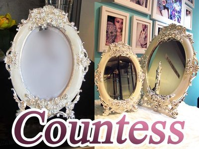 Countess宮廷歐式鏡子-大號賣場 相框桌鏡立鏡IKEA化妝鏡超美雕花古典優雅家飾ZAKKA兩用SP閃耀美姬