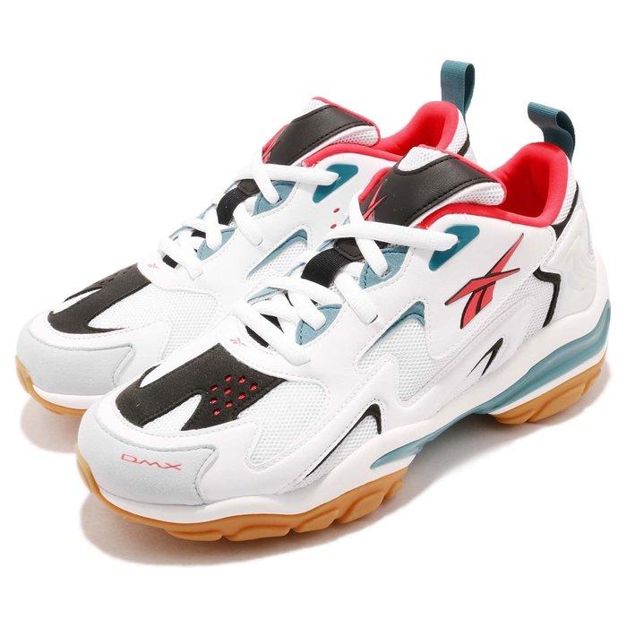 =CodE= REEBOK DMX SERIES 1600 復古皮革慢跑鞋(白藍橘) CN7738 活氣墊 老爹鞋 男女
