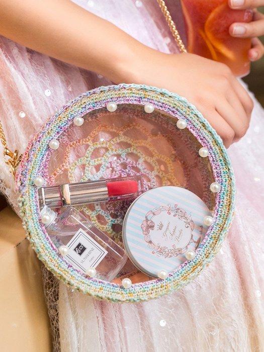 聚吉小屋 #蘇蘇姐家網紅亞克力透明包包手工編織抖音鉤針diy材料包毛線團飝