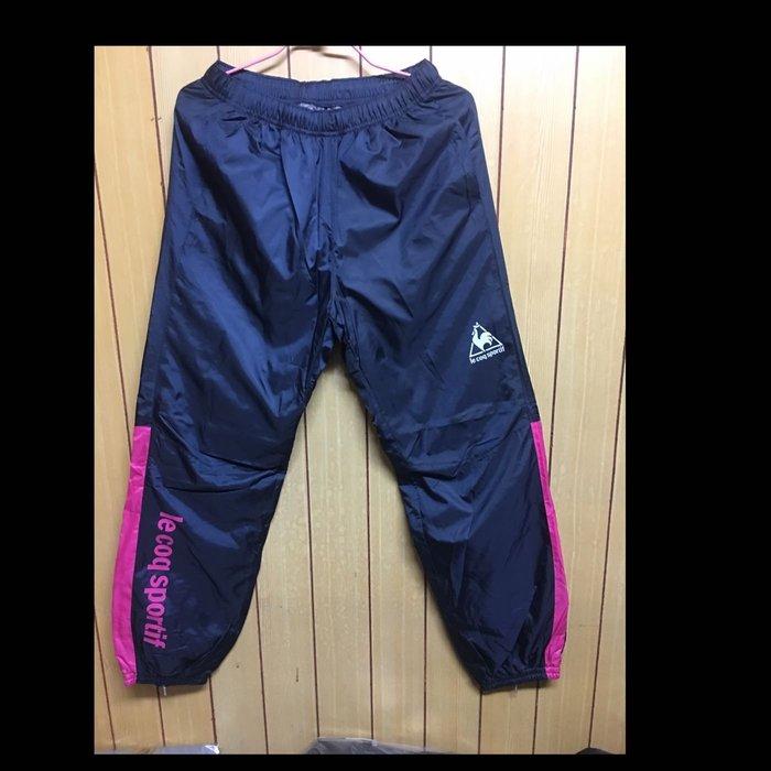 全新 le coqsportif 公雞牌 藍色 內鋪棉 戶外 運動褲 休閒褲 L號 A13-4