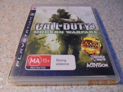 PS3 決勝時刻4-現代戰爭 COD4 Call of Duty 4 英文版 直購價600元 桃園《蝦米小鋪》