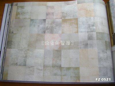 【大台北裝潢】FZ國產現貨壁紙* 幾何 漸層方格(5色) 每支720元