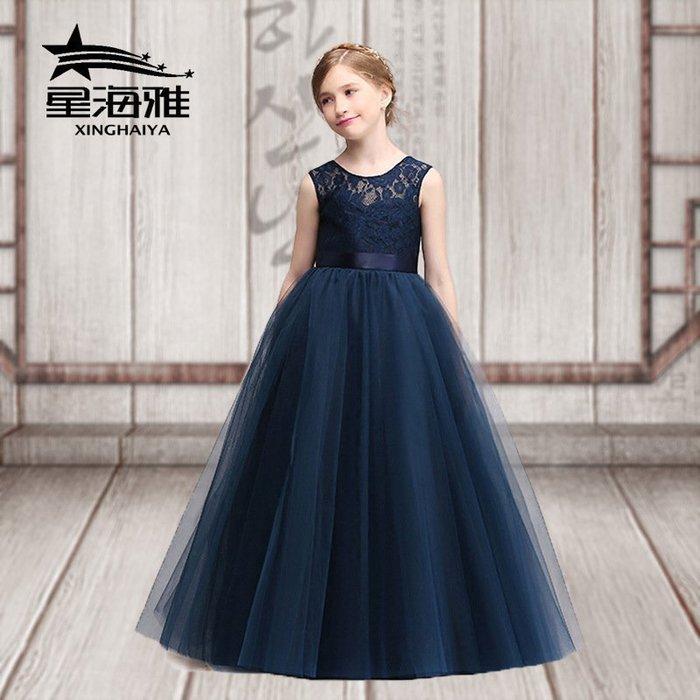 【衣Qbaby】女童音樂會鋼琴演奏生日宴會蕾絲公主長禮服