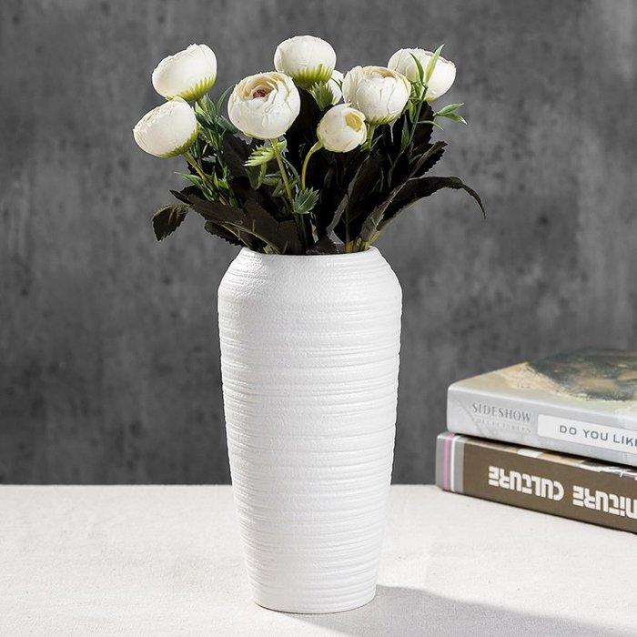 #創意 裝飾品 居家歐式大號陶瓷玻璃透明花瓶客廳擺件插花水培富貴竹干花裝飾品擺件