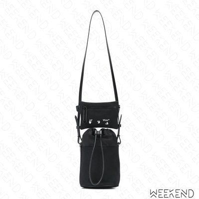 【WEEKEND】 OFF WHITE Bucket 雙包 肩背包 水桶包 黑色 20秋冬