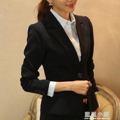 小西裝女韓版修身面試正裝春夏上衣短款工作服女式休閒西服外套潮