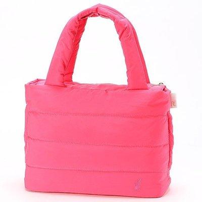 限量回饋送背帶🉐日本ROOTOTE 經典基本款 桃紅色 羽絨包 空氣包 手提包 托特包 FEATHER ROO DELI 3275