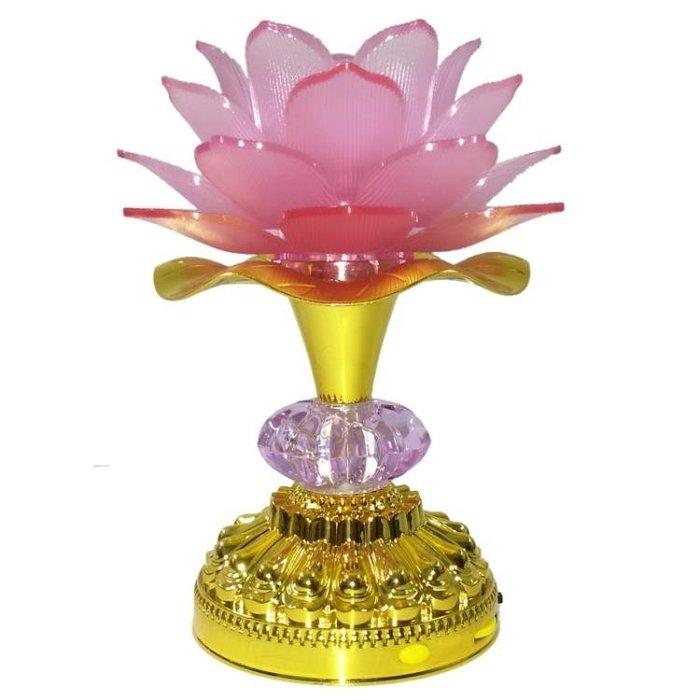 佛教用品LED七彩蓮花燈念佛機佛供燈供佛燈佛堂供燈佛燈長明燈