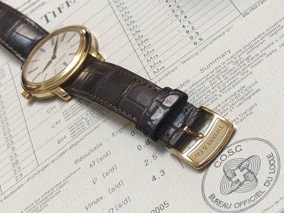 歡迎討論 蒂芬妮Tiffany & Co. Mark Resonator 手上鍊18K金錶 37mm 二手品正常使用痕跡.錶友交流參觀