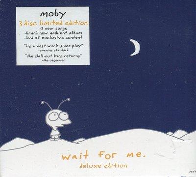【嘟嘟音樂坊】魔比 Moby - 等  Wait For Me  2CD+DVD 限量豪華版   (全新未拆封)