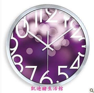 【凱迪豬生活館】敦品超靜音創意掛鐘/表 時鐘 原創燈火午夜KTZ-201042